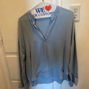 Vince long sleeve blouse size small